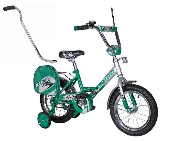 "Велосипед Amigo Pionero 12"" зелёный-серебро"