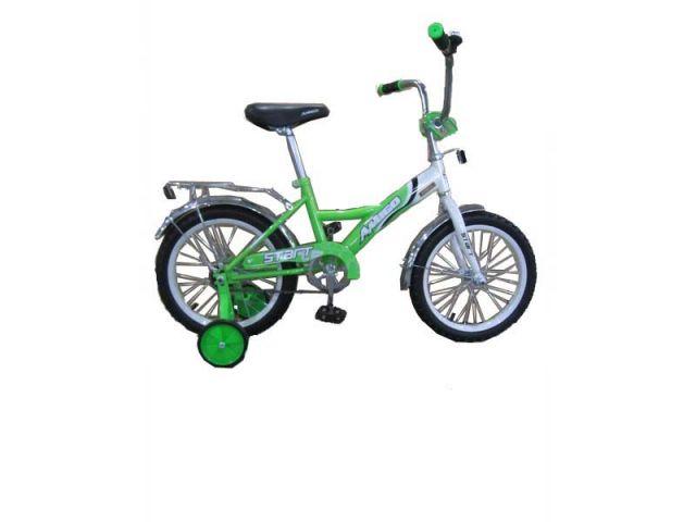 """Велосипед Amigo Start 16"""" искристо - зелёный"""