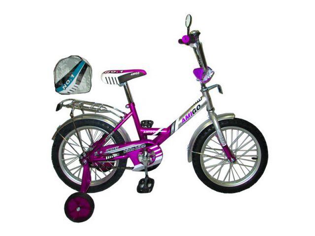"""Велосипед Amigo Justo 16"""" фиолетовый"""