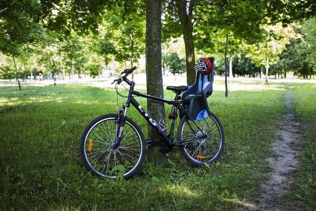 Велосипед LTD Rocco 10 + детское кресло + защитный шлем