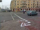 Велодорожка на проспекте Независимости