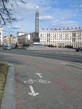 Велодорожка и памятник Победы