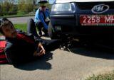 Инспекторы минского ГАИ совершили наезд на велосипедиста на тротуаре