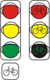 Светофор для регулирования движения велосипедистов.