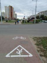 Велодорожка на ул. Притыцкого